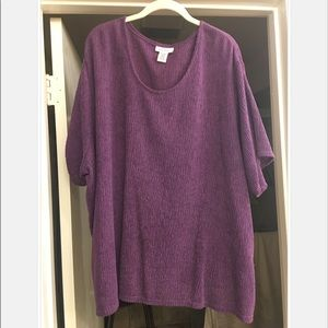 Purple crepe Avenue top with short sleeves! 🎀